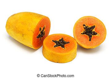 공급 절감, 파파야, 위로의, 과일