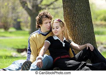 공원의 커플