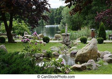 공원, 호수, 와..., crannies, 진주, lubusz, lagow