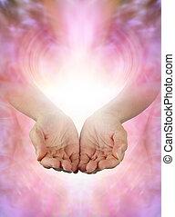 공유하는 것, 아름다운, 풍부한, 치유하는, 에너지, 와, 당신