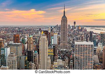 공중선, 맨해튼, 보이는 상태