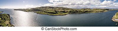 공중 전망, 의, 그만큼, 섬, kerrera, argyll