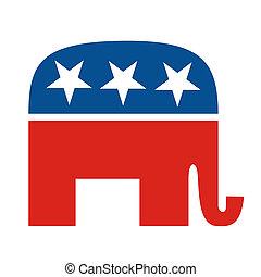 공화당원, 파티, 코끼리