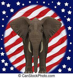 공화당원, elephant.