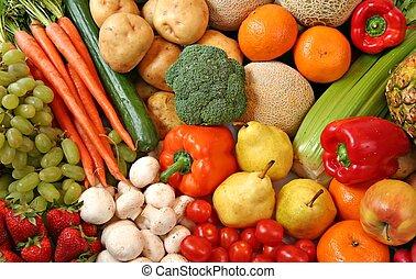 과일, 와..., vegetables.