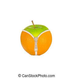 과일, cellulite, 향하여, 규정식
