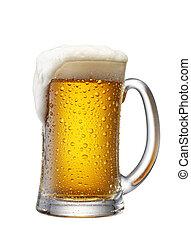 과장된 표정, 맥주