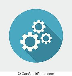 과정, 기계학의, 개념, 아이콘