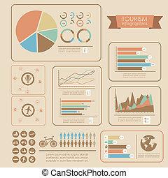 관광 여행, infographics