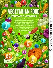 광물, 콩, 야채, 철저한 채식주의자, herbs., 비타민