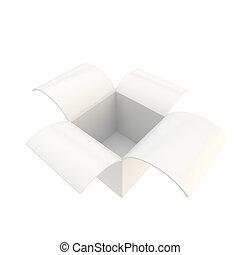 광택 인화, 꾸러미, 소포, 상자, 고립된, 백색 위에서