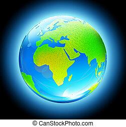 광택 인화, 지구 지구