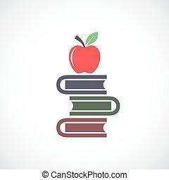 교육, 벡터, 아이콘