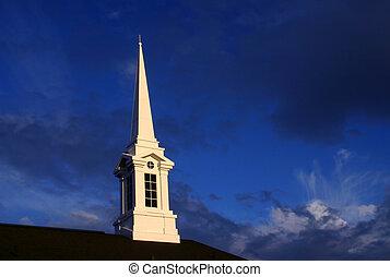 교회 뾰족탑