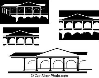 구식의, 건물