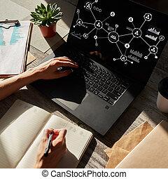 구조, organisational, 인간, 모델, network., 자원, hr, 친목회,...