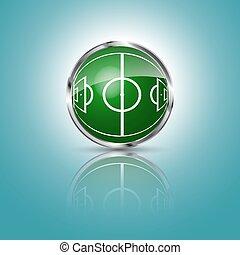 구체, 풀, 축구, 녹색 분야
