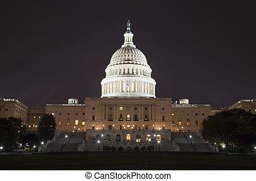 국회 의사당, 우리, 밤