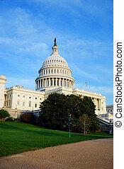 국회 의사당, 일몰, 워싱톤 피해 통제
