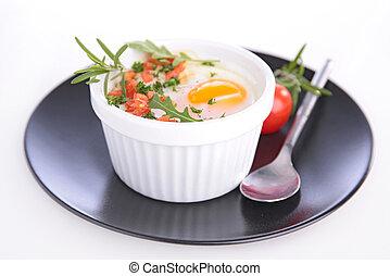 굽, 달걀