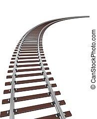 궤도를 관찰하다, 기차