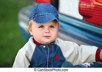 귀여운, 갓난 남자 아기