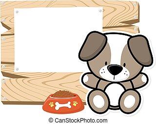 귀여운, 아기, 강아지, 구조