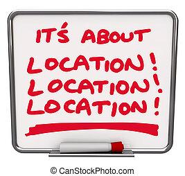 그것의, 모든 것, 약, 위치, 목적지, 최선, 지역, 반점, 장소