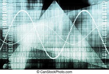 그래프, 기술, 재정, 스프레드 시트