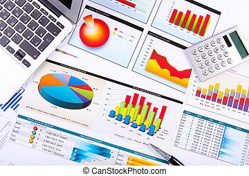 그래프, 도표, 사업, 테이블.