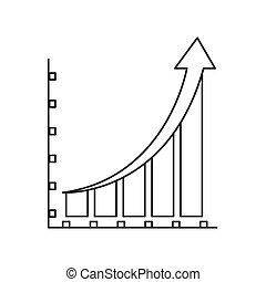 그래프, 선내에, 아이콘