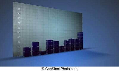 그래프, 성장, 재정, 사업, 자료