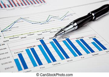 그래프, 재정, 도표