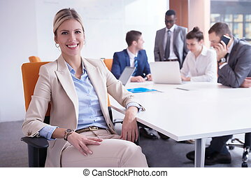 그룹, 사무실, 사람