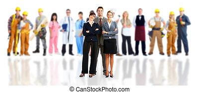 그룹, 의, 직원, 사람.
