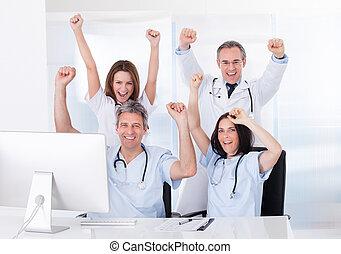 그룹, 의, 행복하다, 의사