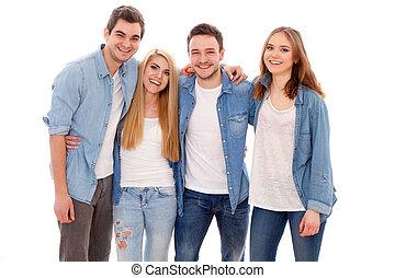 그룹, 의, 행복하다, 젊은이