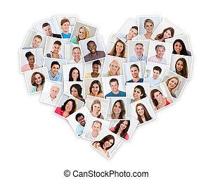 그룹, 의, multiethnic, 사람