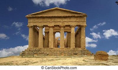그리스어, 구식의, concordia, 사원