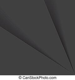 그림자, 문자로 쓰는, 은 시트를 깔n다, &, 이것, graphic., 또는, -, 벡터, 플라스틱, 회색, 종이, 검정, 음색, 배경, 사이의, 은 이루어져 있는다, 백색, 떼어내다, 배경막