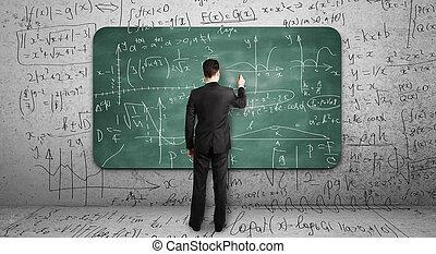 그림, businssman, 공식, 수학상의