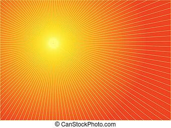 그만큼, 뜨거운, 여름, 태양