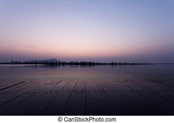 그만큼, 보이는 상태, 의, 호수