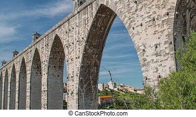 그만큼, 수로, aguas, livres, portuguese:, aqueduto, das, aguas,...