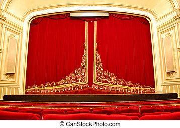 극장, 내부, -, 단계