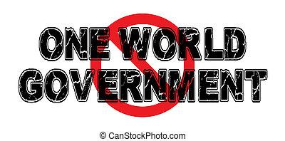 금지령, 하나, 세계, 정부