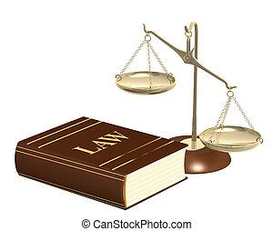 금, 저울, 와..., 법전, 의, 법률