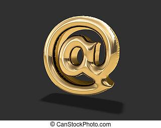 """금, balloon, """"at"""", 상징., 3차원"""