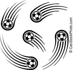 기계의 운전, 선, 축구, 상징, 공
