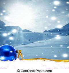 기금, 와, 전통적인, 크리스마스 훈장, 와..., 크리스마스, 휴일